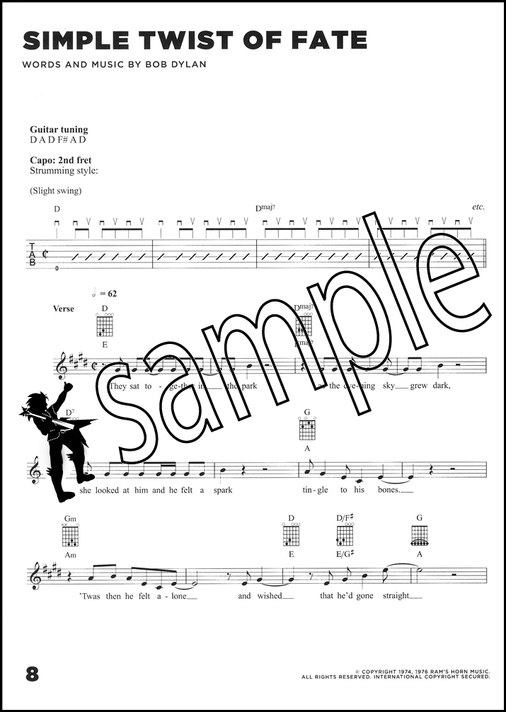 Bob Dylan Blood on the Tracks Guitar Chord & Melody Songbook Classic ...