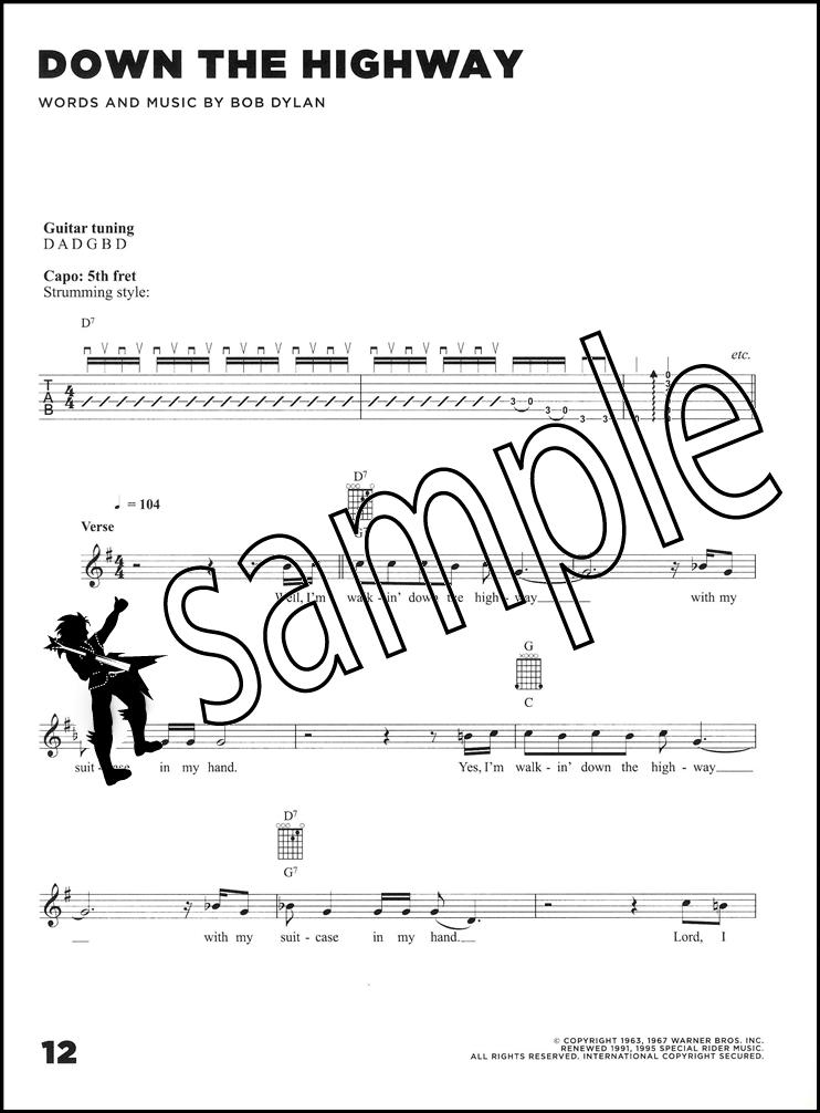 Bob Dylan The Freewheelin\' Guitar Chord & Melody Songbook Classic ...