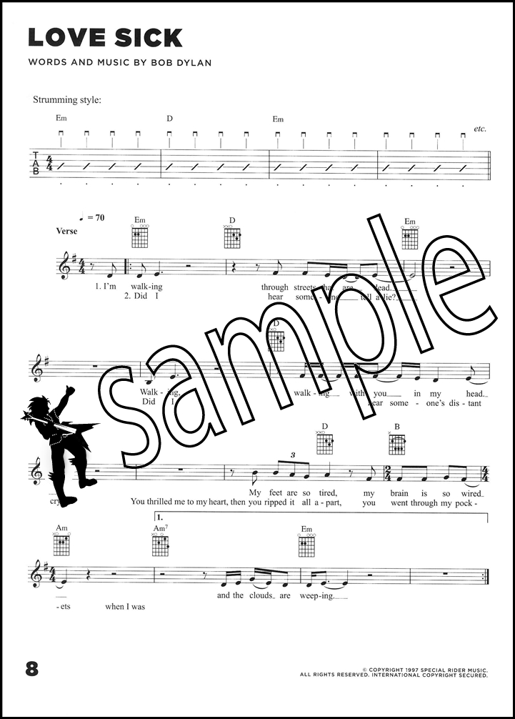 Bob Dylan Time Out Of Mind Guitar Chord & Melody Songbook Classic ...