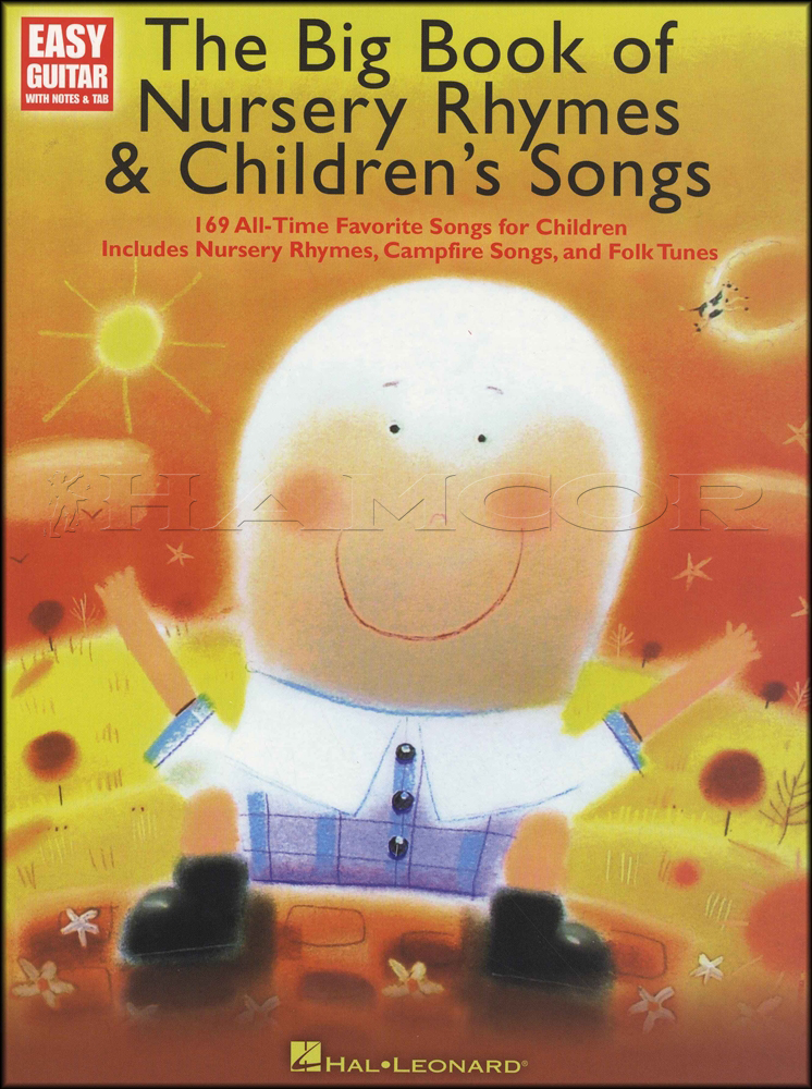 The Big Book Of Nursery Rhymes Songs For Easy Guitar Hamcor