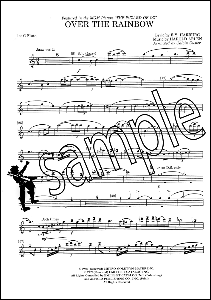 Over The Rainbow for Flute Choir Score & Parts Sheet Music Book ...