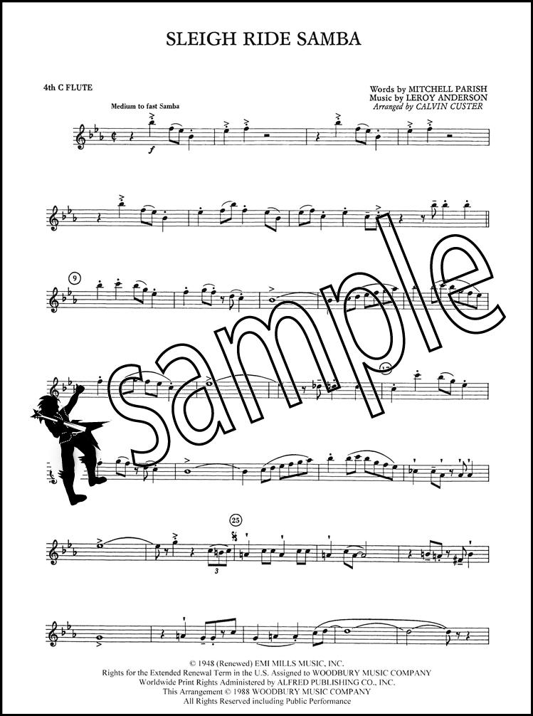 Sleigh Ride Samba for Flute Choir | Hamcor