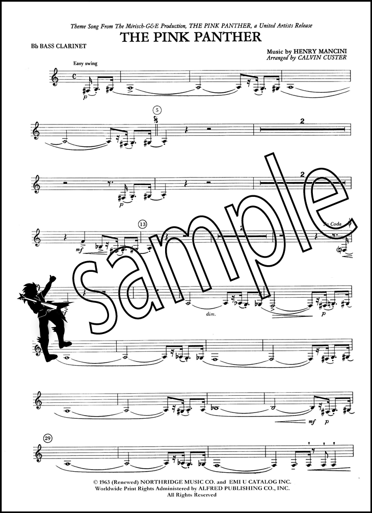 All Music Chords pink panther clarinet sheet music : The Pink Panther for Clarinet Choir | Hamcor