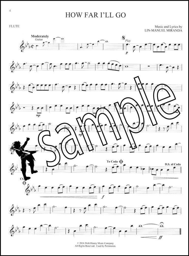 Disney Moana Instrumental Play-Along for Flute Sheet Music Book ...