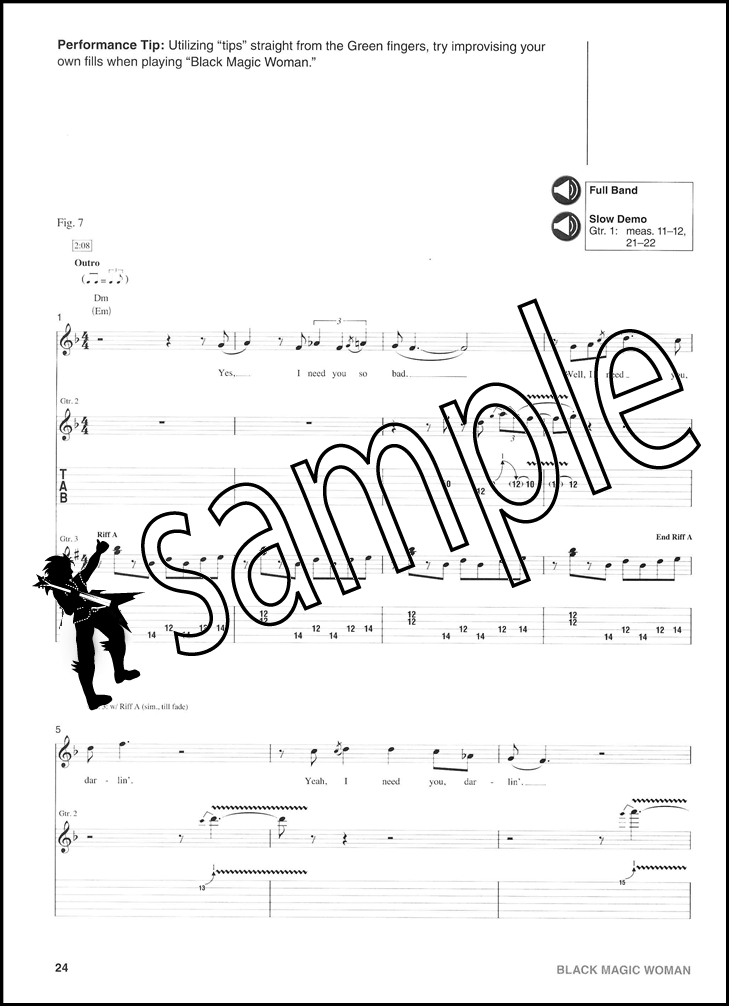black magic woman bass tab pdf