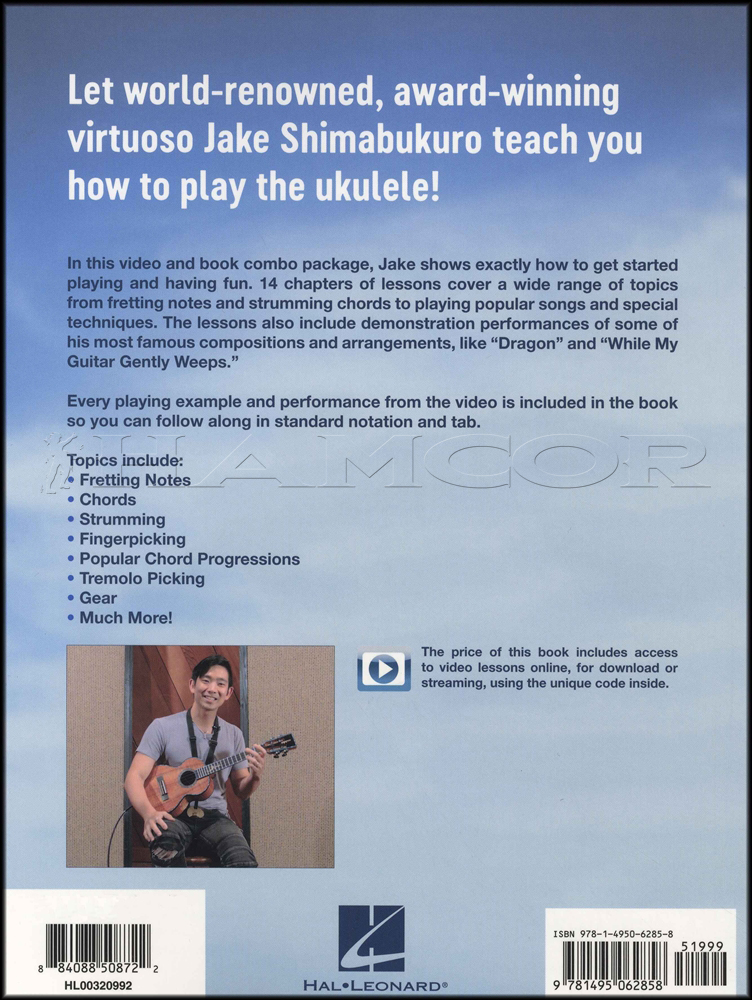 Jake Shimabukuro Teaches Ukulele Lessons Bookvideo Hamcor