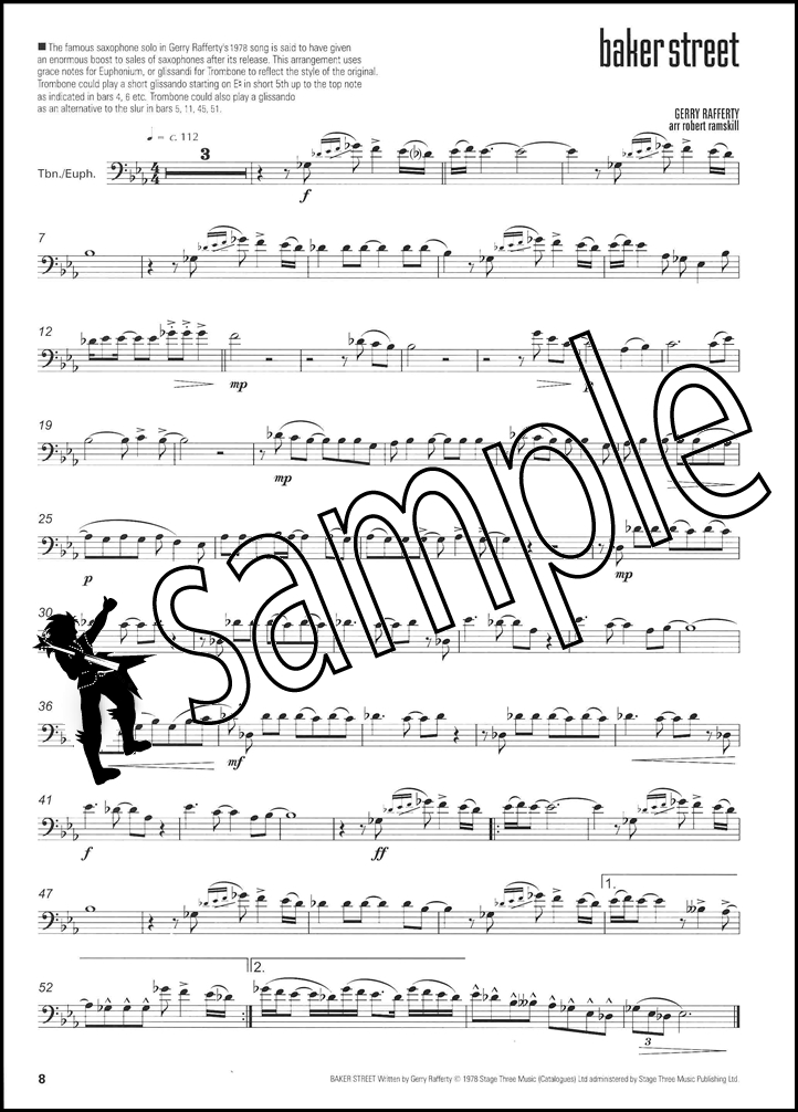 i feel good for trombone euphonium bass clef sheet music book with piano acc ebay. Black Bedroom Furniture Sets. Home Design Ideas