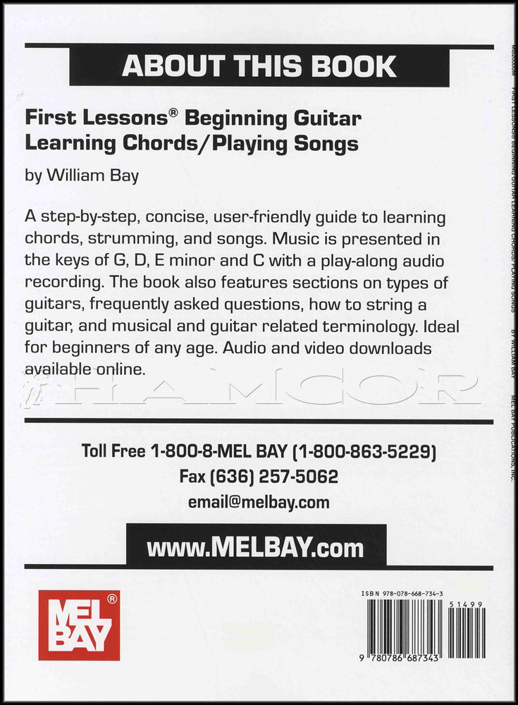 Video//First Lessons Beginning Guitar Chords Songs Book/Audio/Video ...