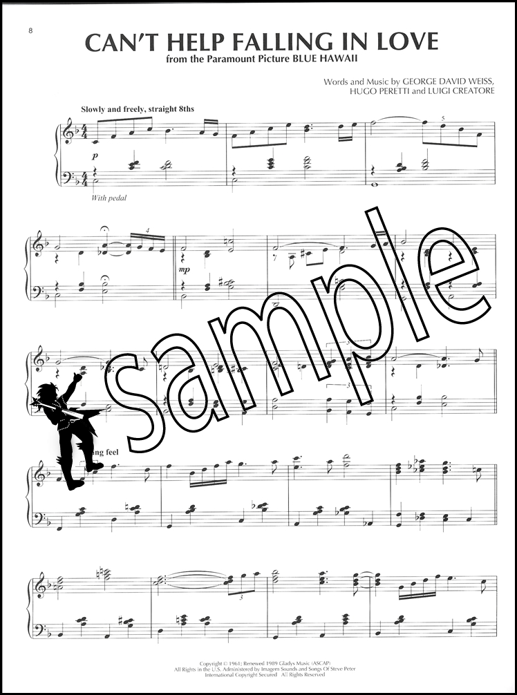 can t help falling in love piano sheet music Print and download can't help falling in love sheet music by haley reinhart sheet music arranged for piano/vocal/chords, and singer pro in c major (transposable.