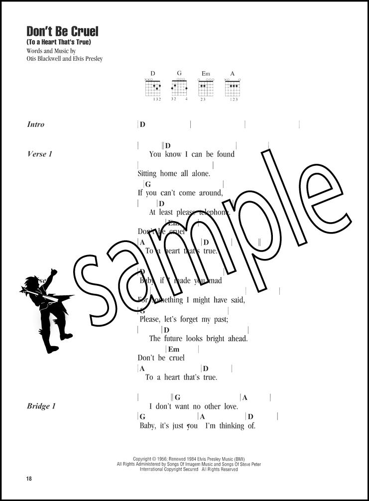 Elvis Presley Strum Sing Guitar Vocal Chord Songbook Blue Suede