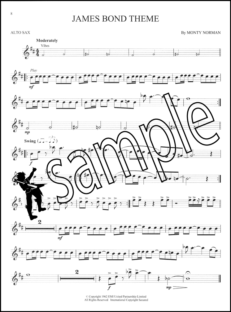 James Bond Instrumental Play-Along for Alto Saxophone Sheet Music ...