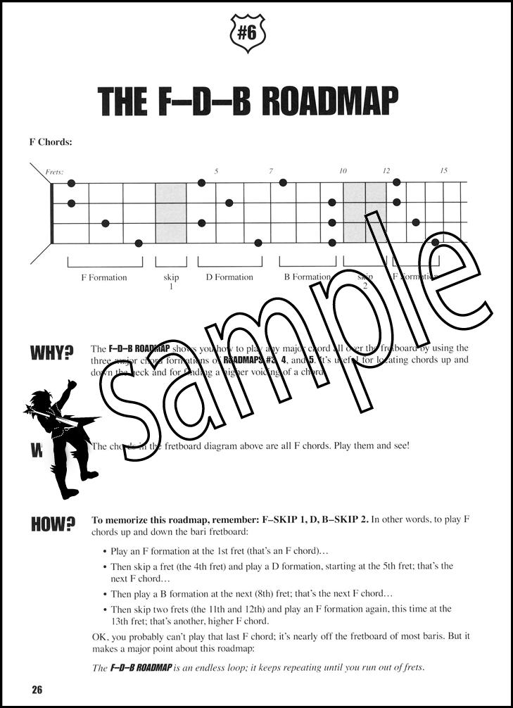 Baritone Ukulele Fretboard Roadmaps Book/Audio | Hamcor