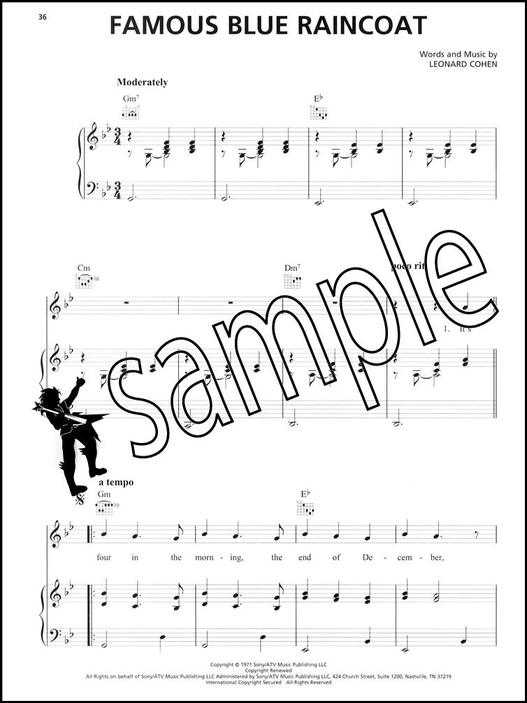 Piano hallelujah shrek piano sheet music : Leonard Cohen Sheet Music Collection 1967-2016 | Hamcor