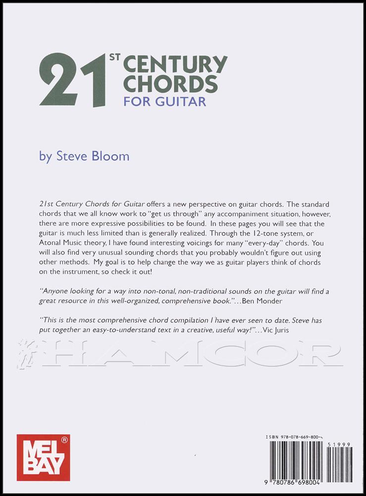 Mel Bays 21st Century Chords For Guitar By Steve Bloom Sheet Music
