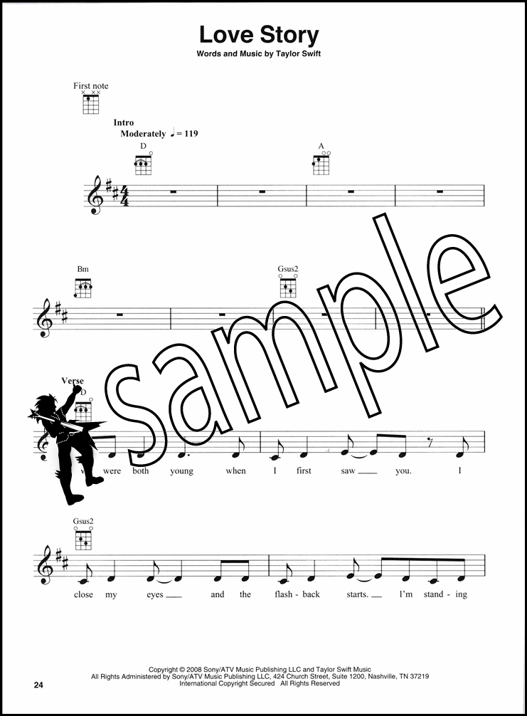 Taylor Swift Ukulele Play Along Chord Melody Song Book With Audio