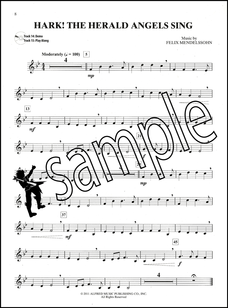 sentinel easy christmas carols instrumental solos french horn in f sheet music book cd