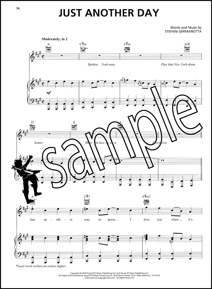 Piano somewhere only we know piano sheet music : Lady Gaga Joanne Piano Vocal Guitar Sheet Music Book Pop Hey Girl ...