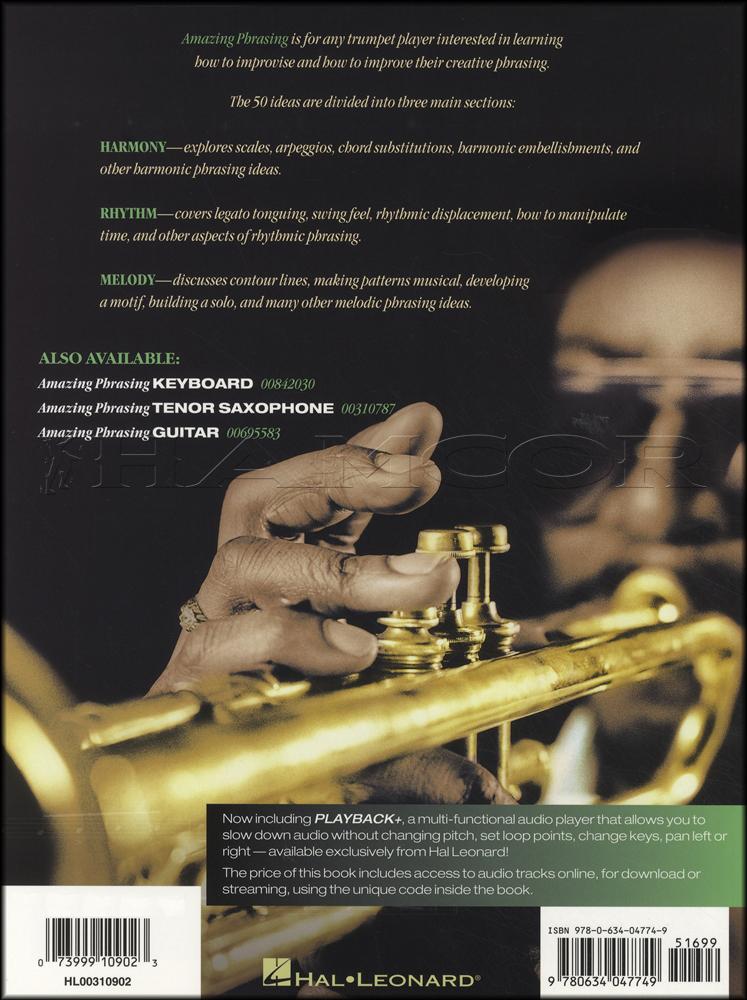 Amazing Phrasing For Trumpet Bookaudio Hamcor