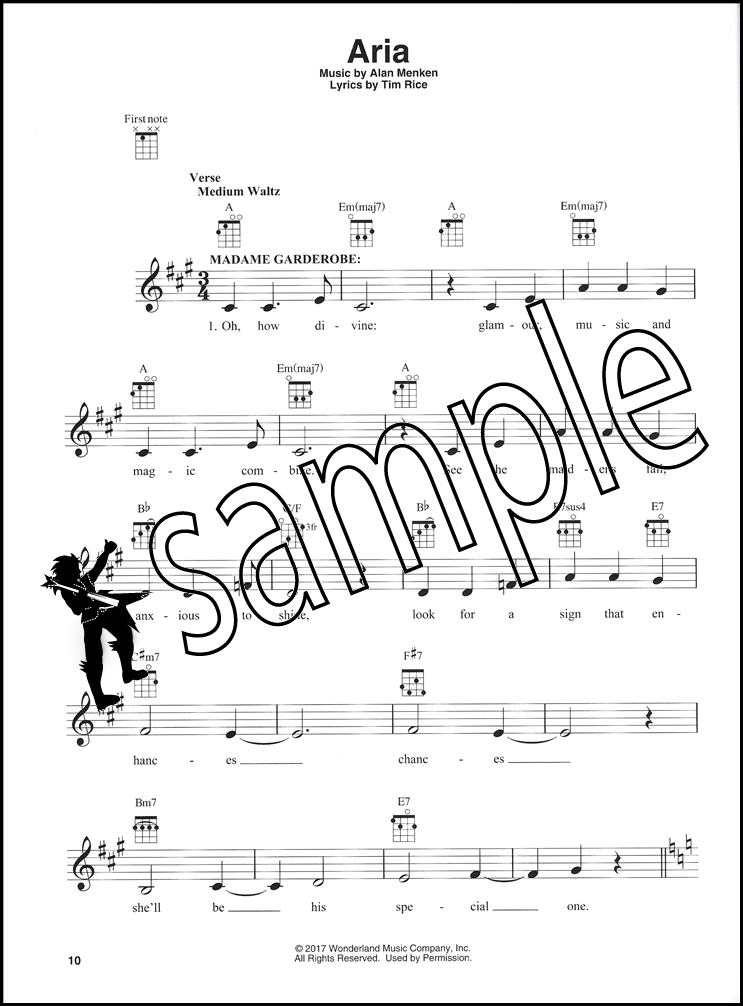 Disneys Beauty And The Beast For Ukulele Chord Melody Songbook