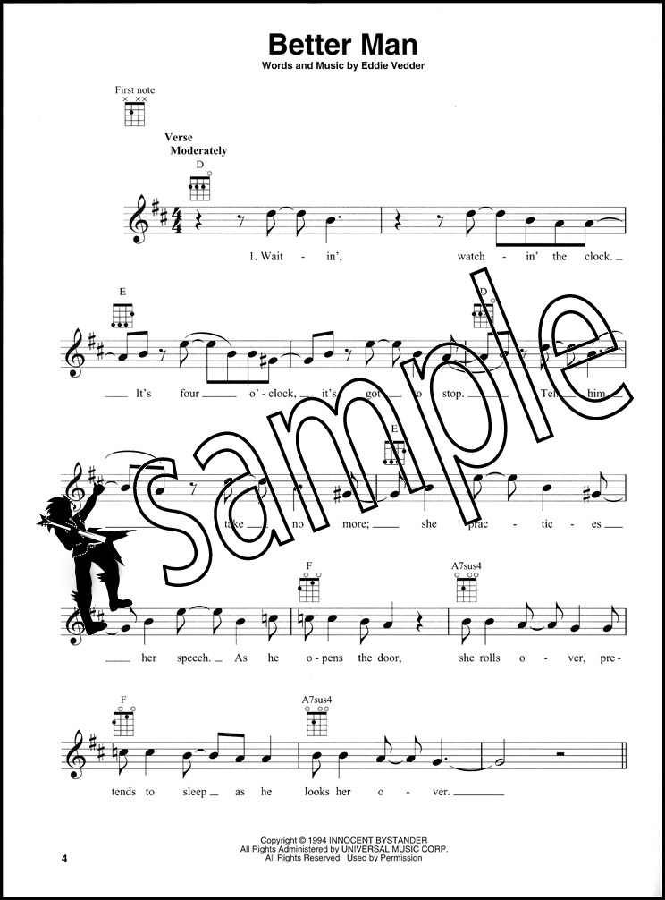 Rock Hits For Ukulele Chord Melody Songbook Pearl Jam Muse Hozier