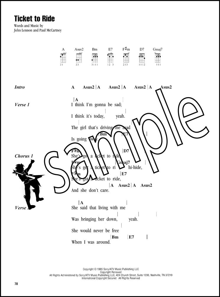 The Beatles Strum Sing Ukulele Chord Songbook Hey Jude Blackbird