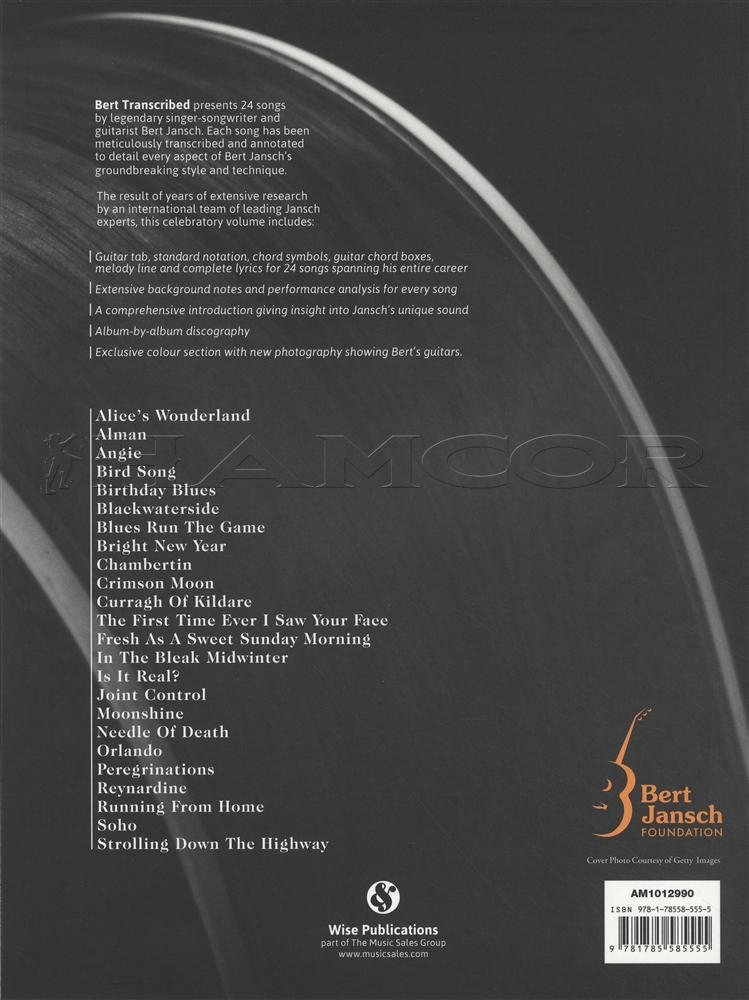 The Bert Jansch Songbook Hamcor