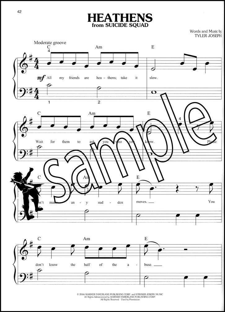Piano piano note sheet : Big-Note Piano Chart Hits of 2016-2017 Sheet Music Book Pop Ed ...