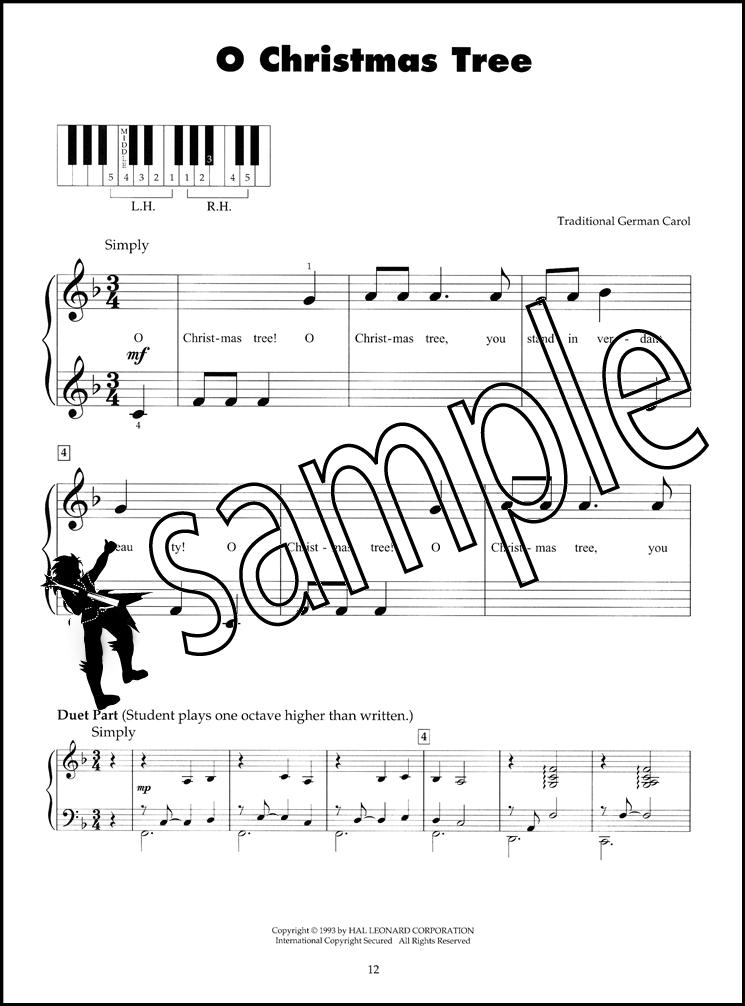 five finger piano christmas carols sheet music book silent