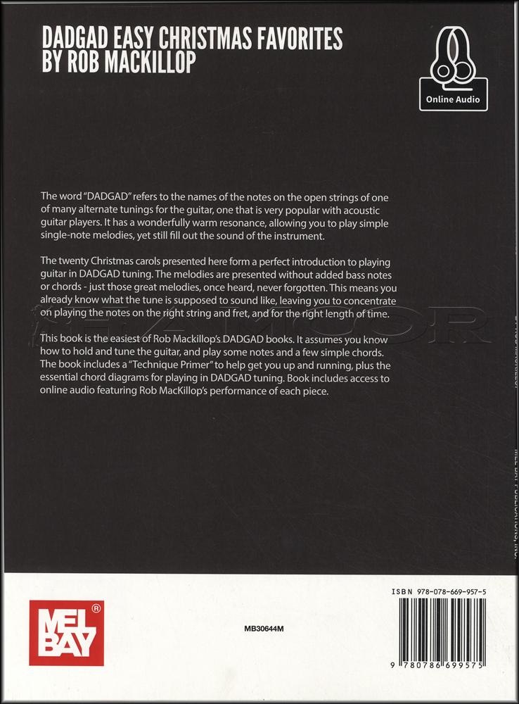 DADGAD Easy Christmas Favorites Book/Audio | Hamcor