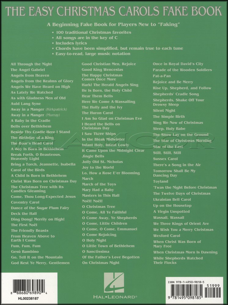 the easy christmas fake book pdf