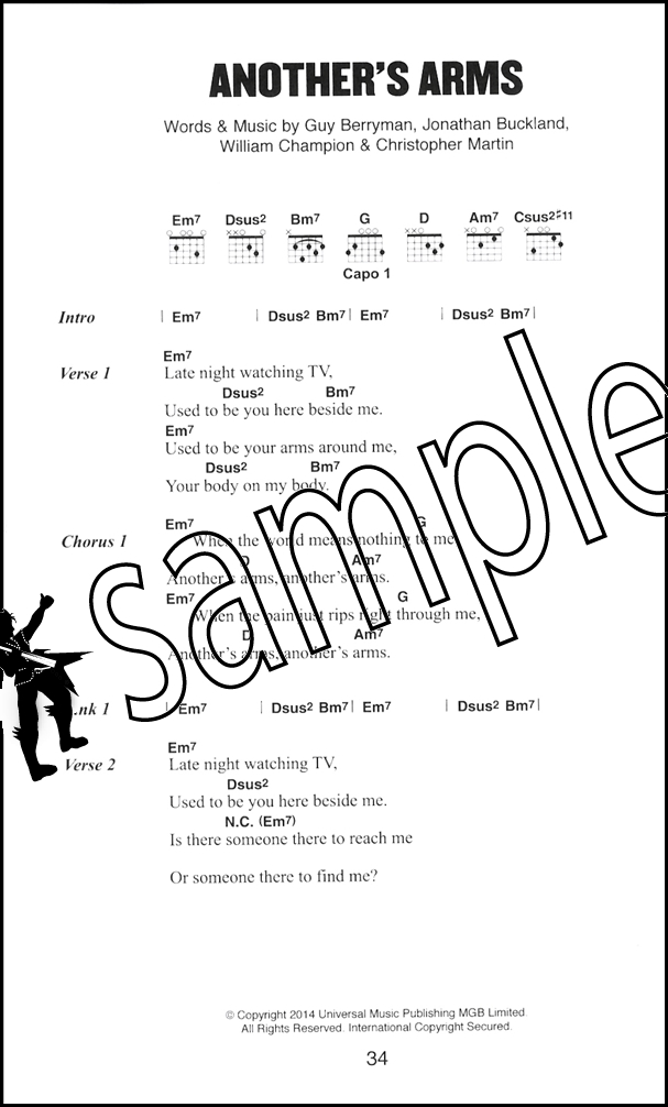 Coldplay The Little Black Songbook Guitar Chord Revised Edition ...