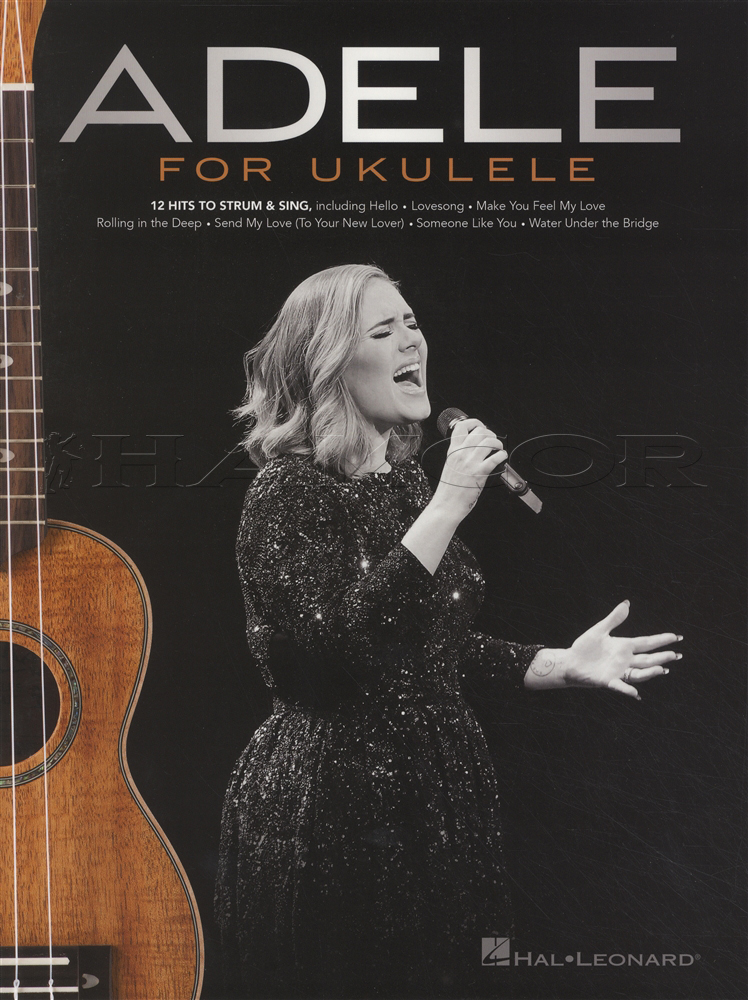 Adele For Ukulele Strum Sing Chord Melody Songbook Skyfall Hello