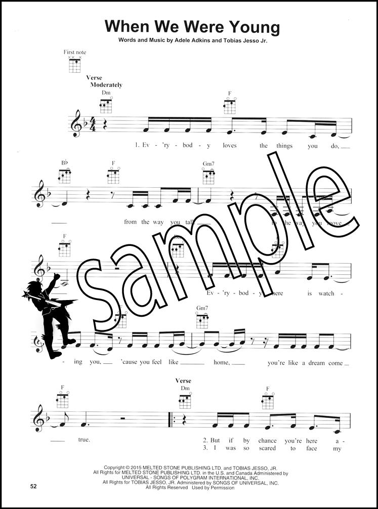 Adele For Ukulele Strum Sing Hamcor