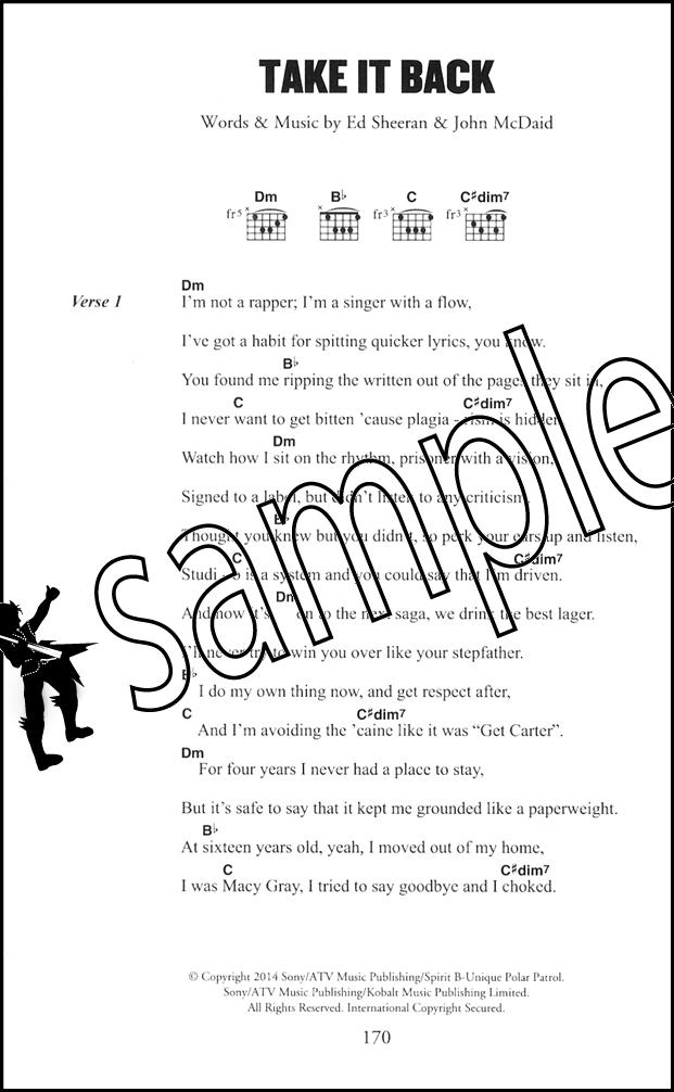 Ed Sheeran The Little Black Songbook Guitar Chord Song Book A Team ...