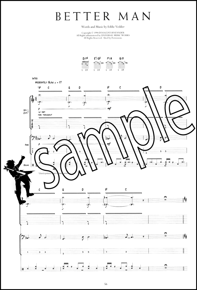 Pearl Jam Anthology The Complete Scores Guitar Tab Bass Drums 130