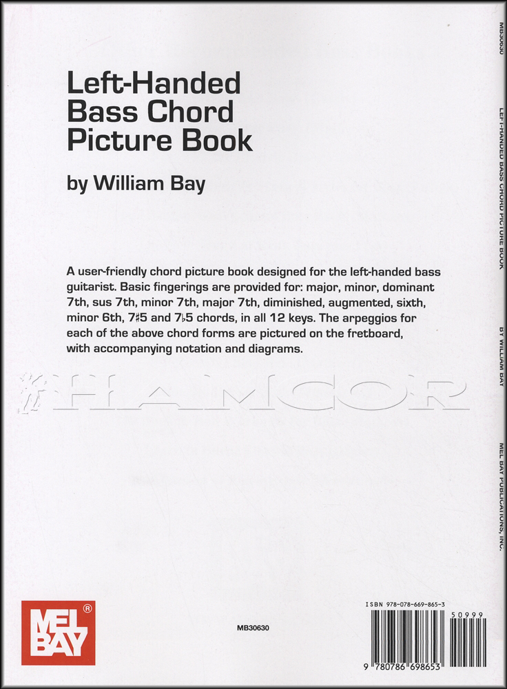 Left Handed Bass Chord Picture Book Hamcor