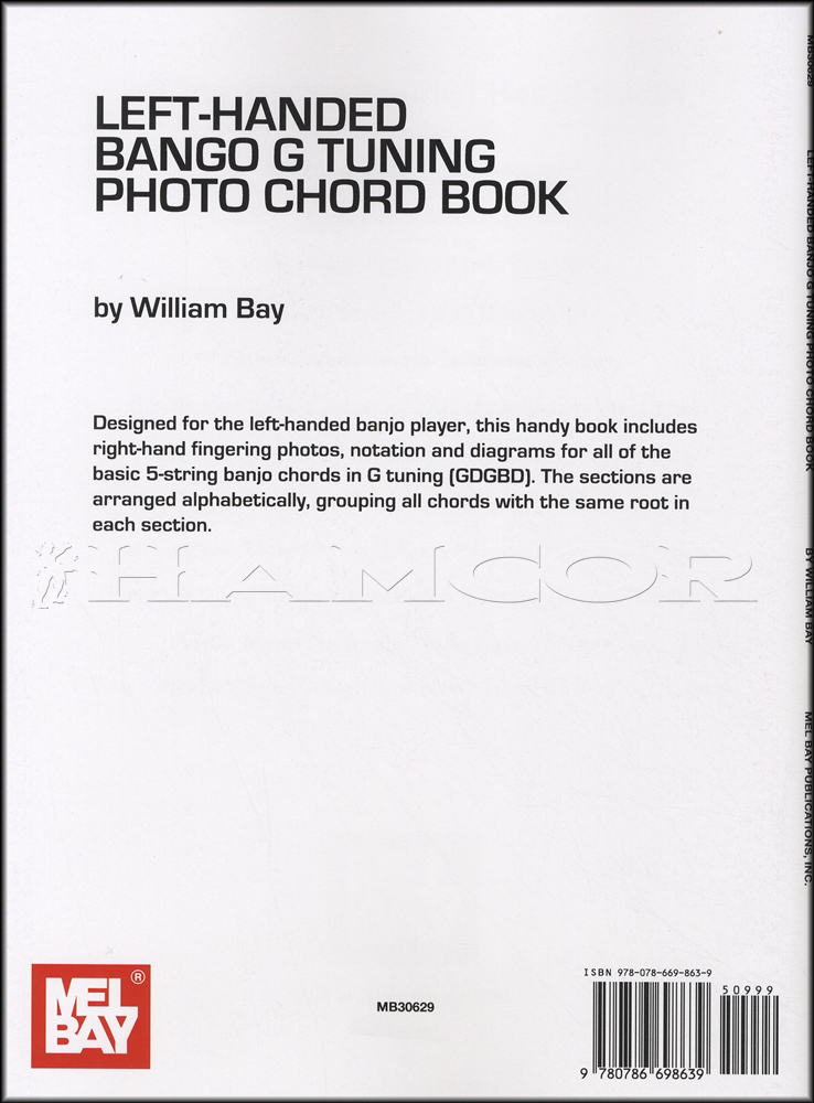 Left Handed Banjo G Tuning Photo Chord Book 5 String Mel Bay