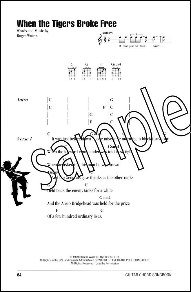 Pink Floyd Guitar Chord Songbook | Hamcor