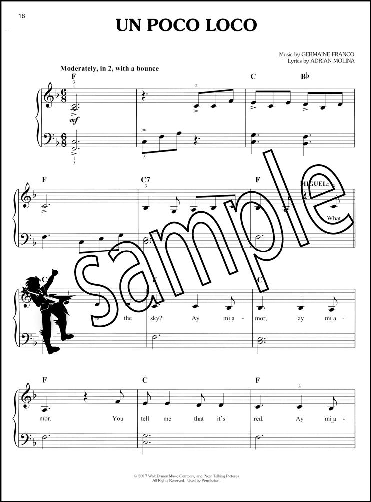Disney Pixar's Coco Movie Soundtrack Easy Piano Sheet Music Book ...
