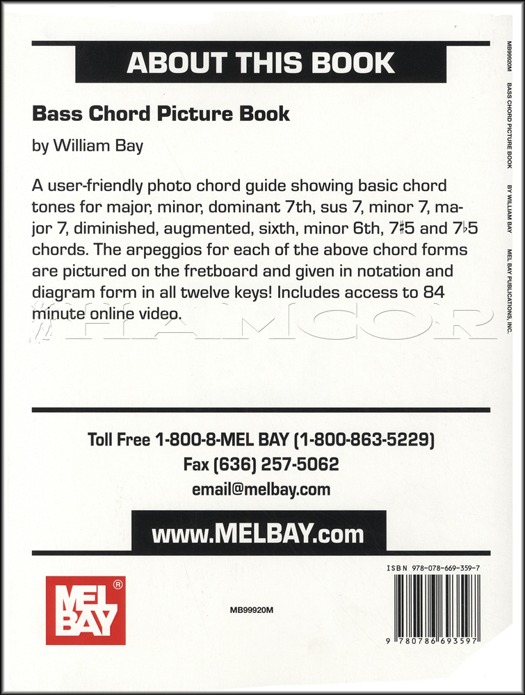 Mel Bays Bass Chord Picture Bookvideo Hamcor