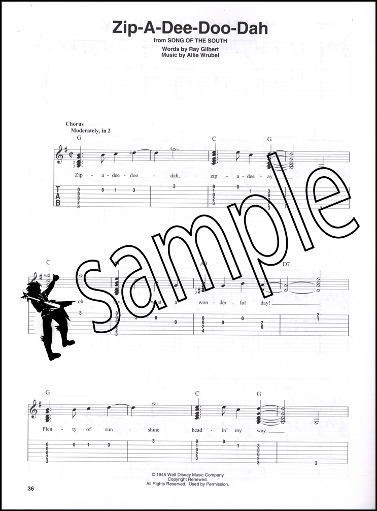 Disney Songs Beginning Solo Guitar Chord Melody Songbook Tarzan Lion