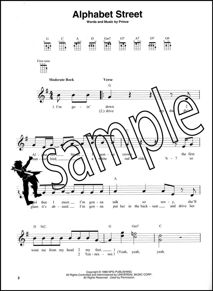 The Very Best of Prince for Ukulele Chord & Melody Songbook Purple ...