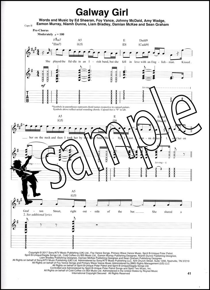 Ed Sheeran Deluxe Guitar Play-Along Book/Audio   Hamcor