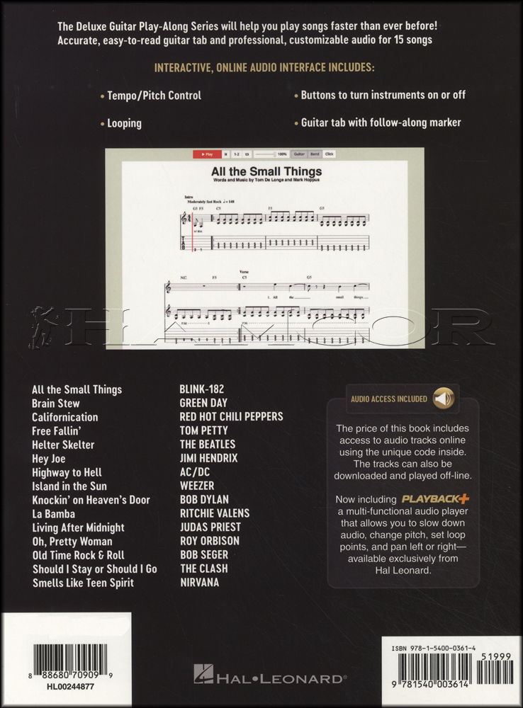 Really Easy Songs Deluxe Guitar Play Along Bookaudio Hamcor