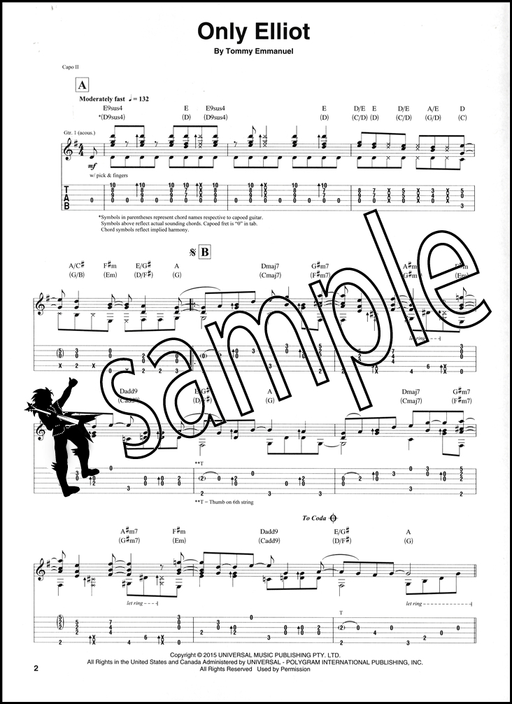 Tommy Emmanuel Its Never Too Late Guitar Tab Music Book The Duke