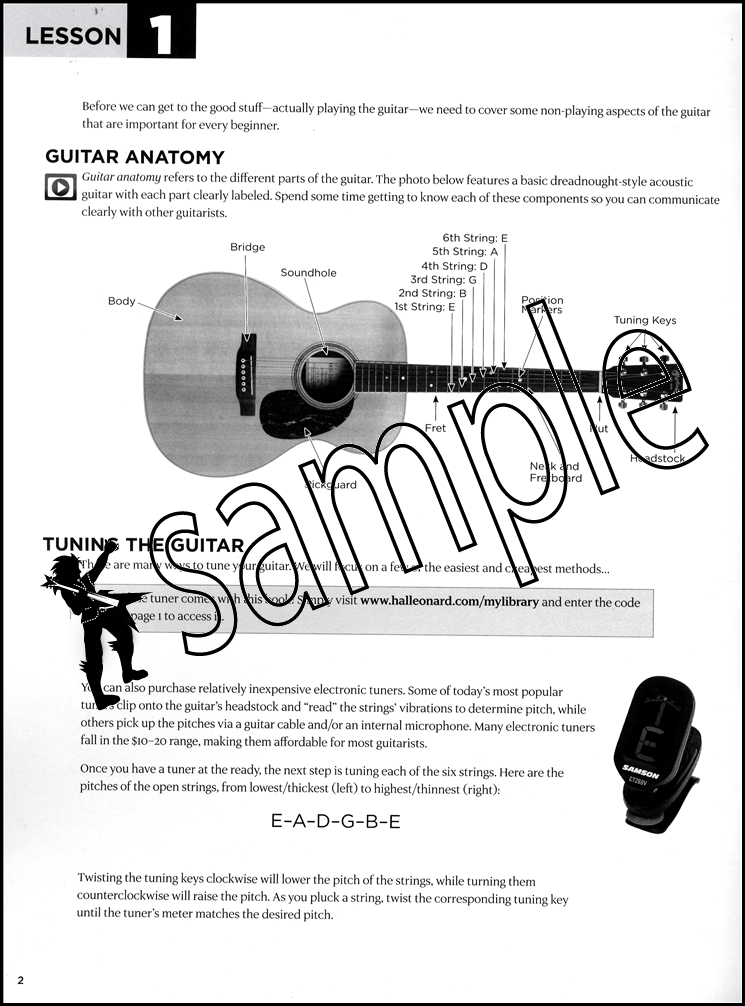 Video//First 15 Lessons Acoustic Guitar Book/Audio/Video | Hamcor