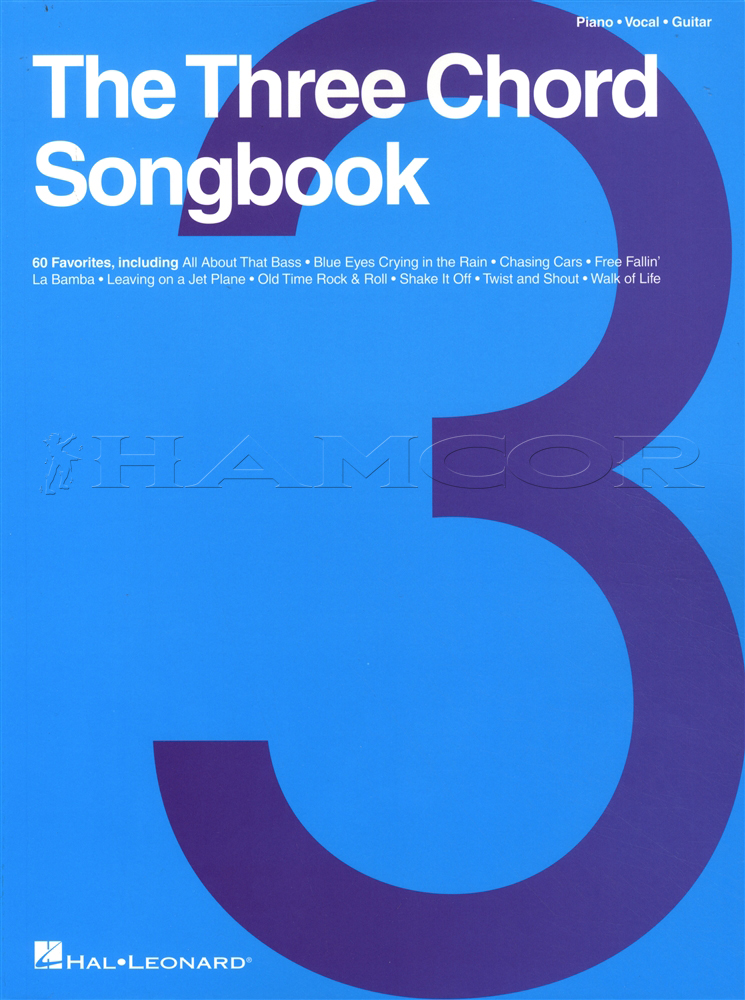 The Three Chord Songbook Piano Vocal Guitar Hamcor
