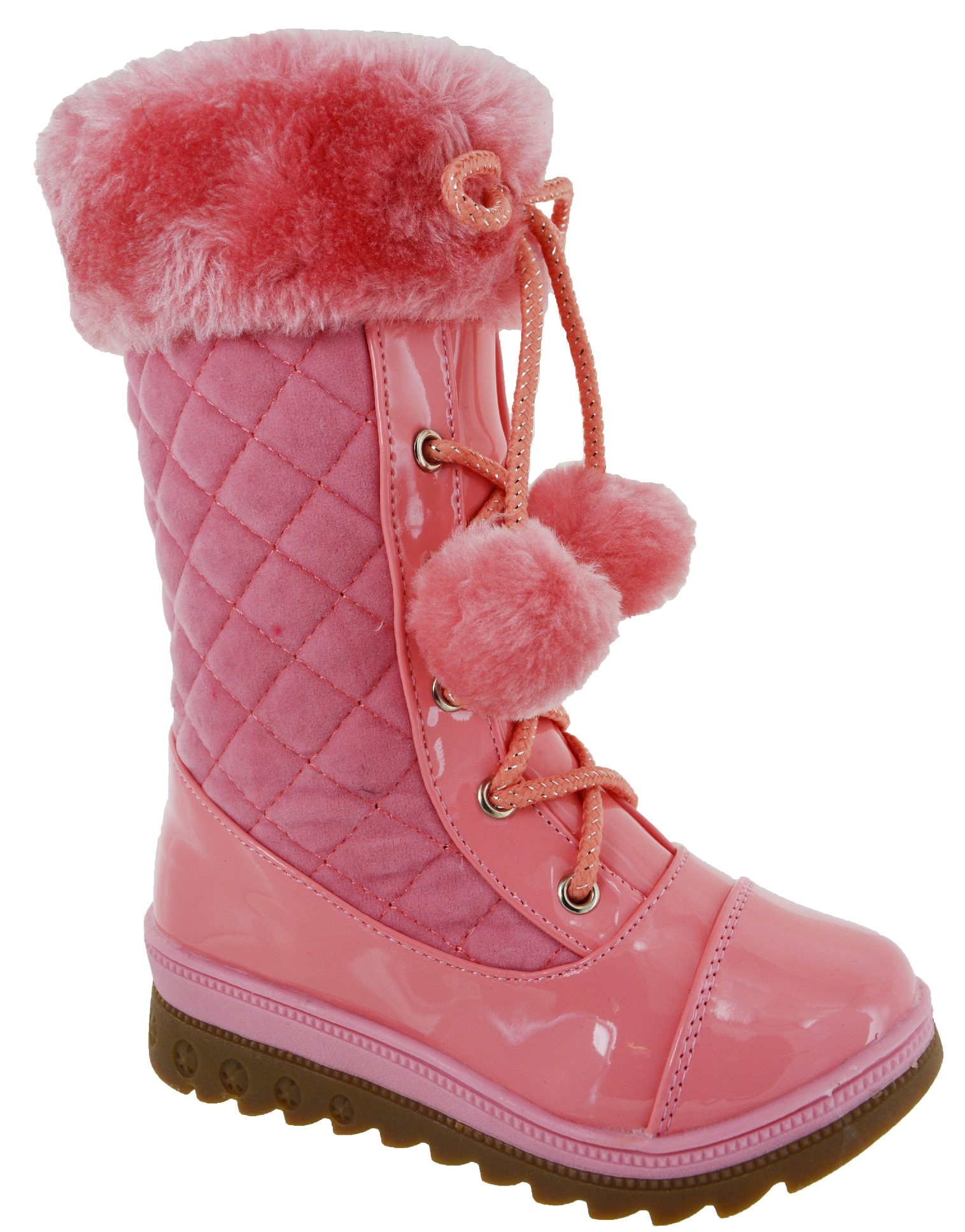 Details about  /Women Girls Winter Warm Snow Mid Calf Boots Thicken Wedge Round Toe Creepers New