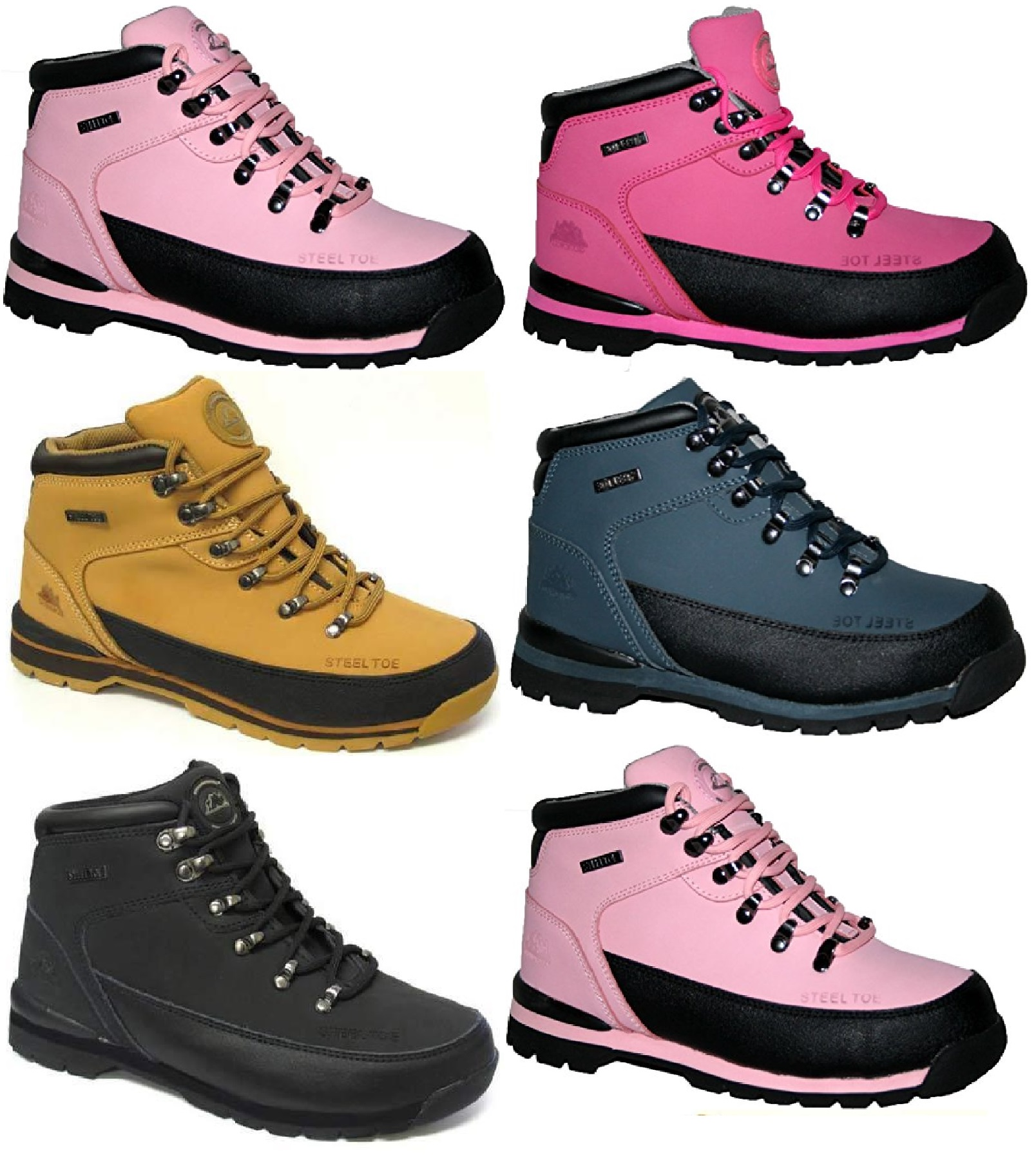 8e4f92035f6 Details about LADIES WOMENS WORK GROUNDWORK SAFETY TRAINERS STEEL TOE CAPS  LEATHER BOOTS SZ