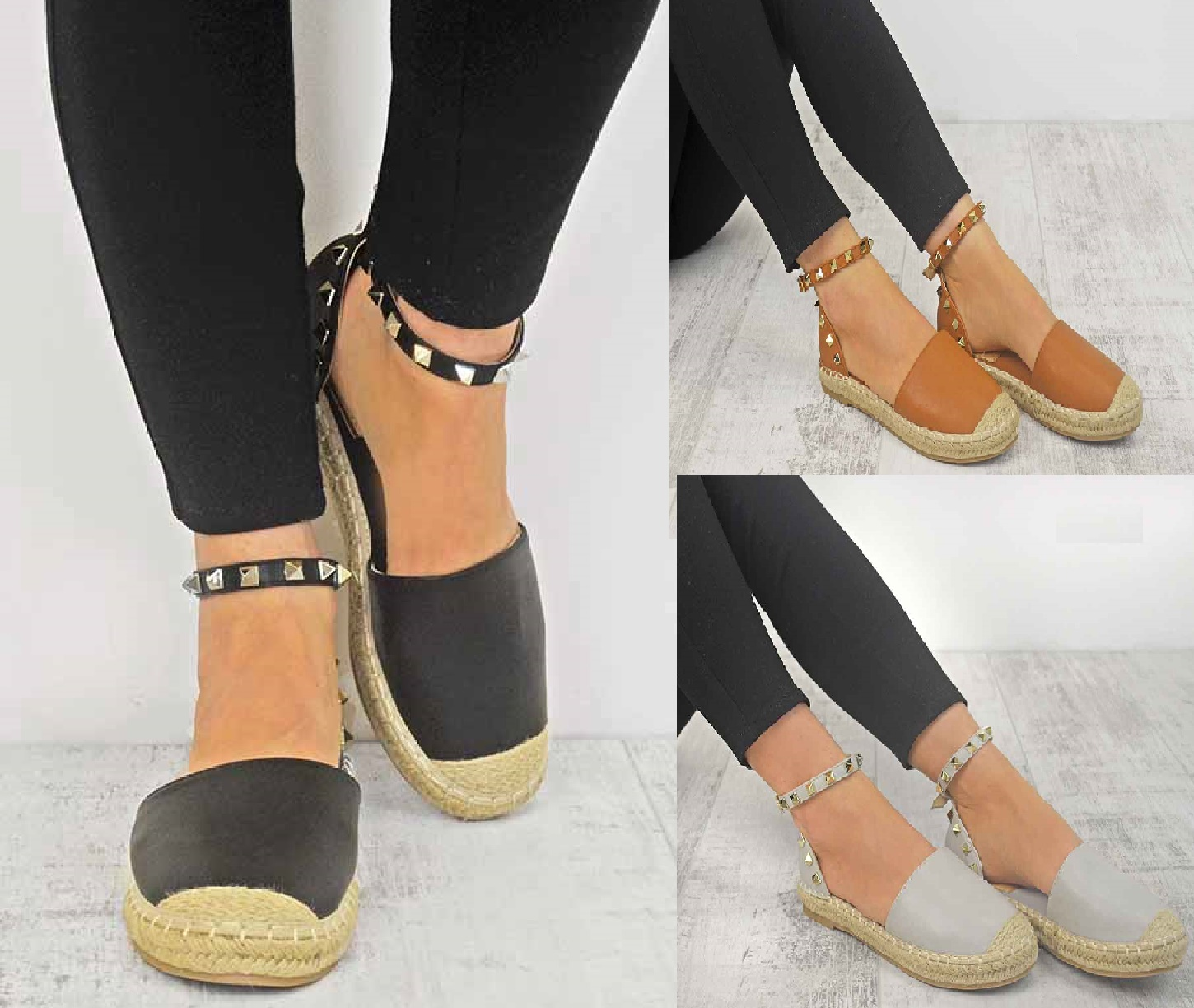 Ladies Womens Ankle Strap Flat Ankle Summer Espadrilles
